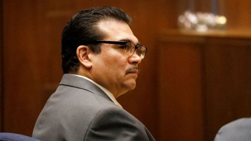 Paul Gonzales, a 1984 Olympic boxing champion and county-employed boxing coach, appeared in Los Angeles County Superior Court for a preliminary hearing as he faces eight felony counts including lewd acts on a child.