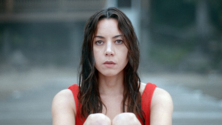 """This image released by eOne/Momentum Pictures shows Aubrey Plaza in a scene from """"Black Bear."""" (eOne/Momentum Pictures via AP)"""
