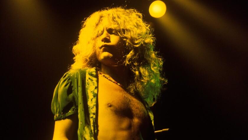 Led Zeppelin singer Robert Plant.