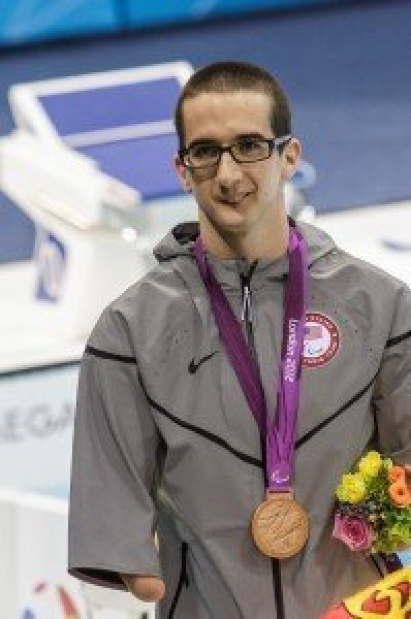 Swimmer Roy Perkins, 24, competed in seven events and medaled in all of them.