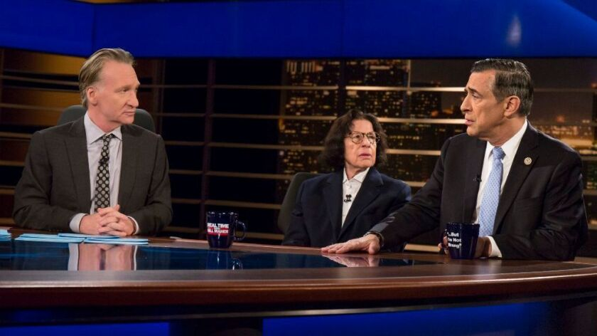 "On Friday, Rep. Darrell Issa, appeared on HBO's ""Real Time with Bill Maher."""
