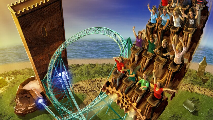 Traveling along a 4,000-foot-long track at speeds reaching 79 mph, Karnan's Oath will feature a heart-shaped ride element, at least one inversion and a terrain-hugging section of the course.