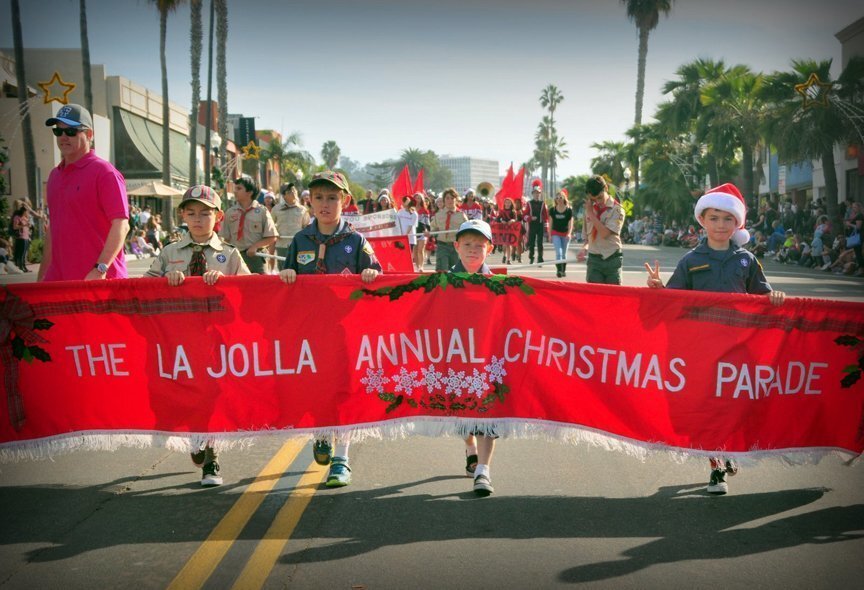 Local Scouts lead the way at the 2015 La Jolla Christmas Parade & Holiday Festival on Sunday, Dec. 6, 2015.