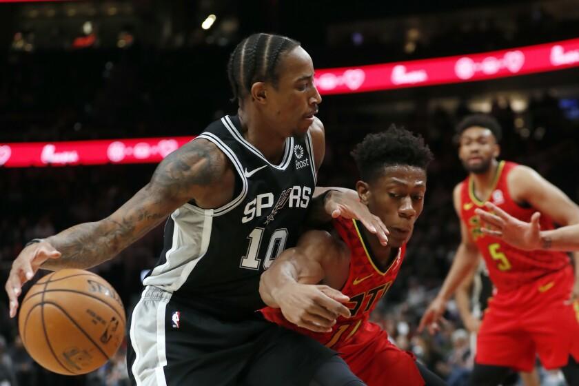 Spurs Hawks Basketball
