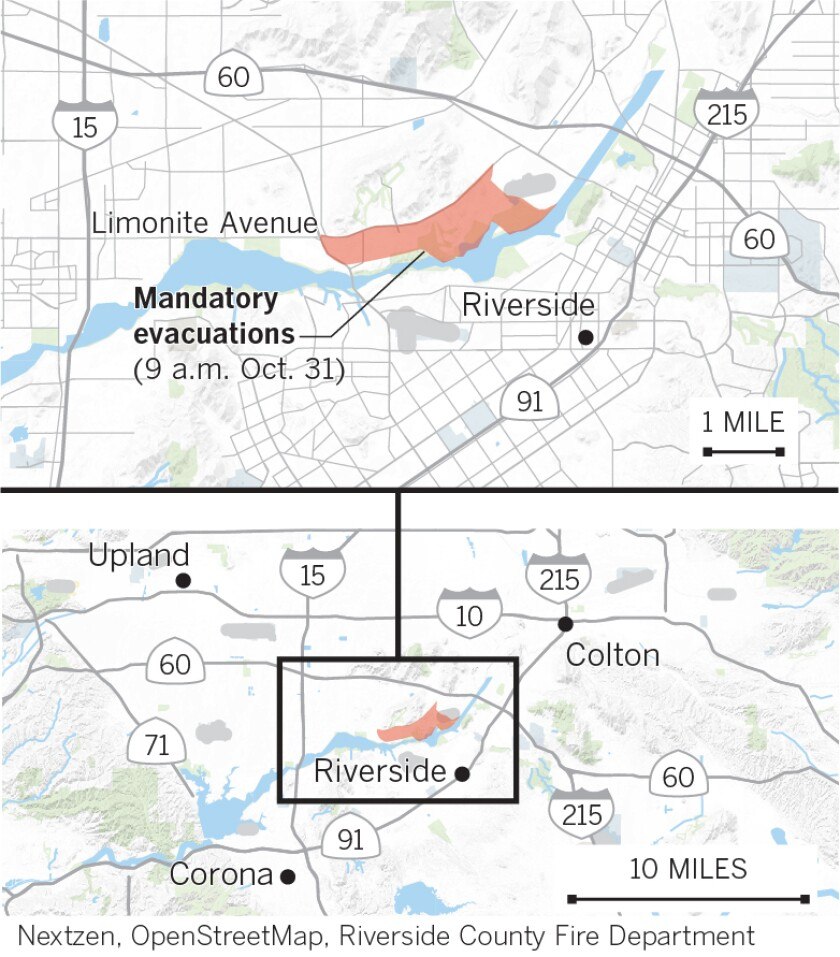 46 fire evacuation zones as of Thursday morning