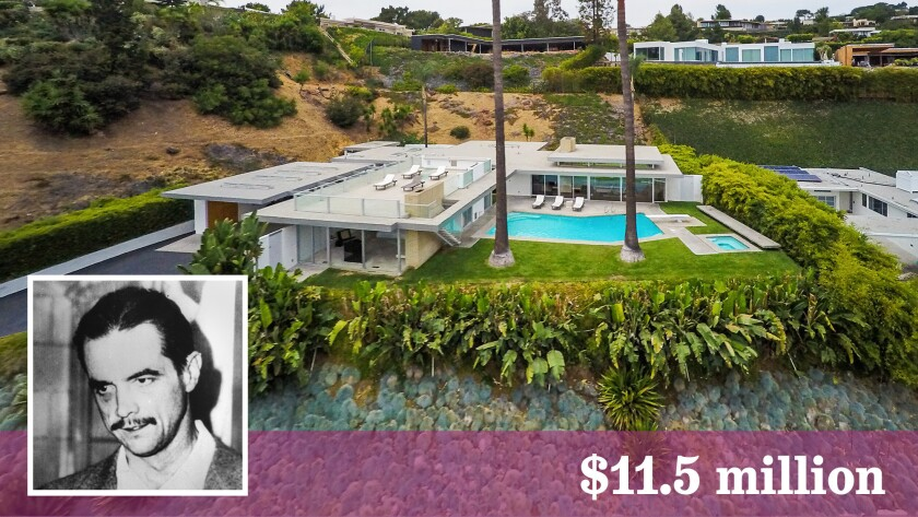 A Beverly Hills home listed at $11.5 million has long been associated with filmmaker and aerospace tycoon Howard Hughes.