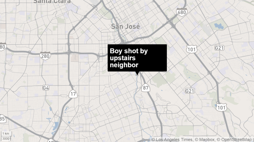 San Jose boy, 9, wounded when upstairs neighbor shoots himself in foot