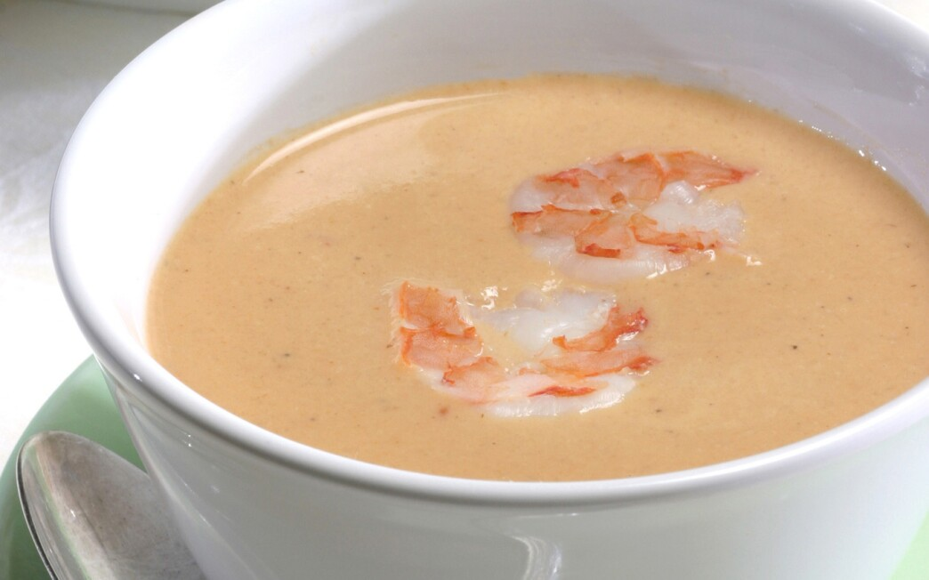 Shrimp bisque with Pernod
