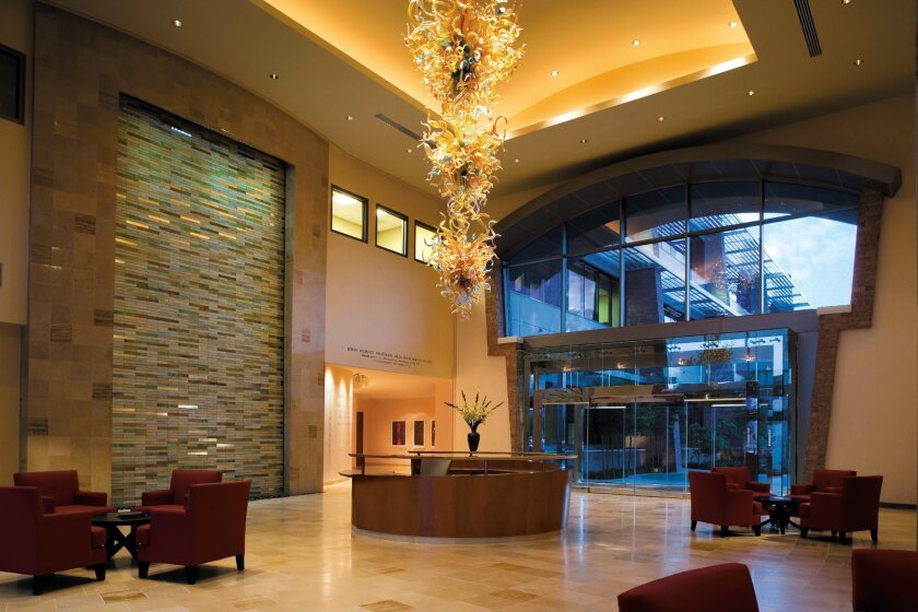 Lobby and Concierge area.