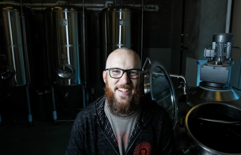 Brewmaster Brian Scott at SR76 brewery at the Harrah's Resort Souther California on Wednesday in Valley Center, California.(Eduardo Contreras)