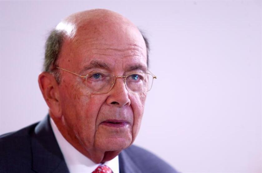El secretario de Comercio de los Estados Unidos, Wilbur Ross, reacciona en entrevista con Efe. EFE/Archivo