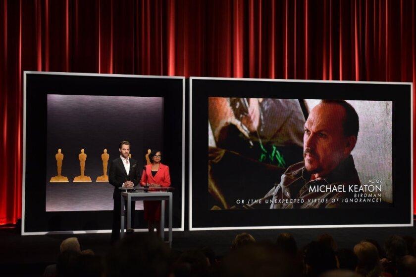 Michael Keaton's oscar nom announcement