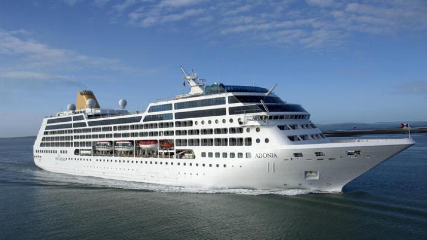 Una foto de Carnival Corp. muestra al Adonia, con capacidad para 710 pasajeros. A partir de mayo de 2016, Carnival planea ofrecer viajes desde Miami hacia Cuba. Los viajes serán inicialmente a través de su nueva marca, fathom, que se centra en viajes en los cuales los pasajeros navegan a un destino para hacer voluntariado allí.