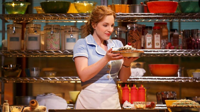 """Jesse Mueller won raves on Broadway for her role in """"Waitress."""" A touring production, with cast yet to be announced, is a highlight in the just-released Pantages lineup for the coming season."""