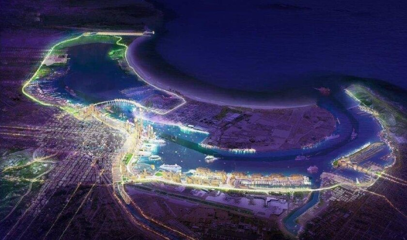A port consultant drafted numerous concepts for San Diego Bay that are forming the backdrop for a new port master plan.