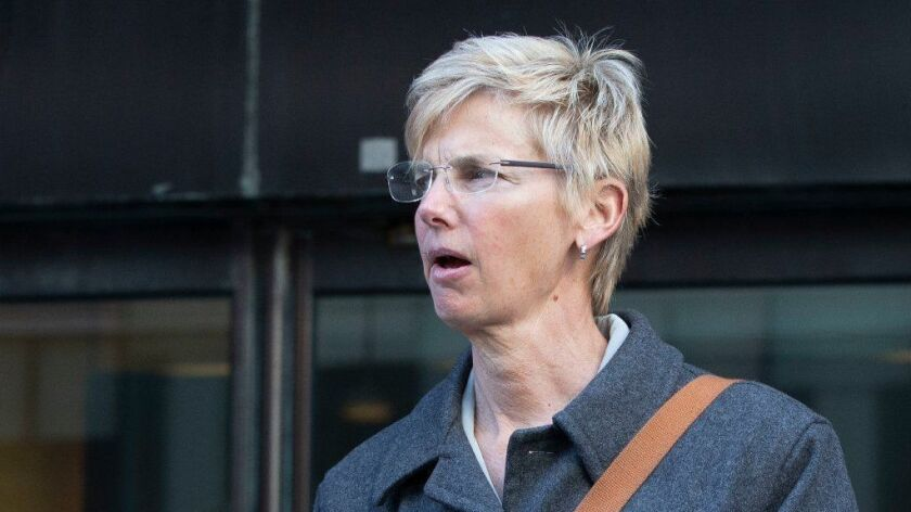 Former University of Southern California athletic administrator Donna Heinel at Federal Court Boston, USA - 25 Mar 2019