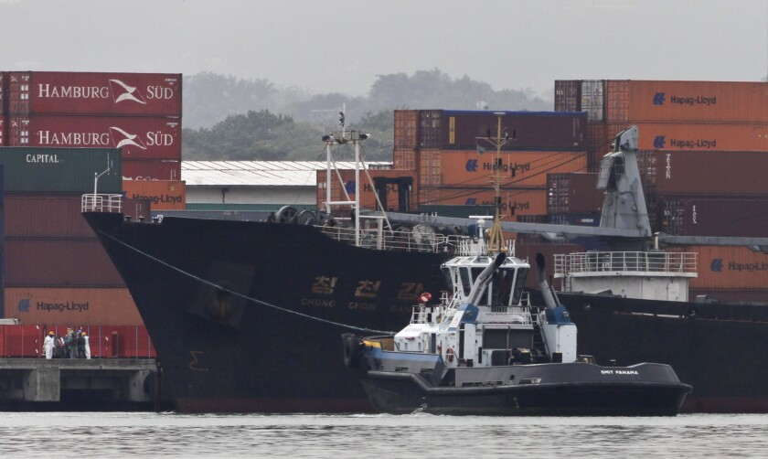 North Korea ship carrying Cuban weapons through Panama