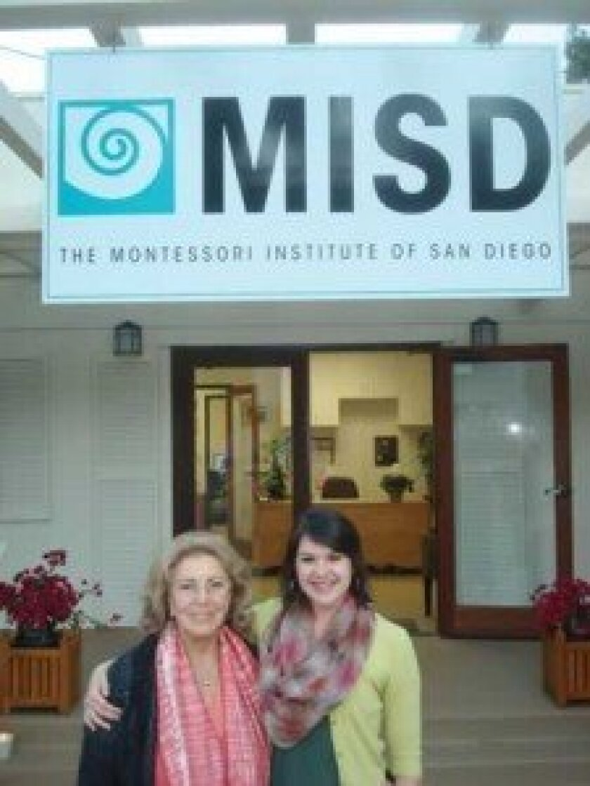 Dr. Silvia Dubovoy and Chelsea Swenson at The Montessori Institute of San Diego. Courtesy