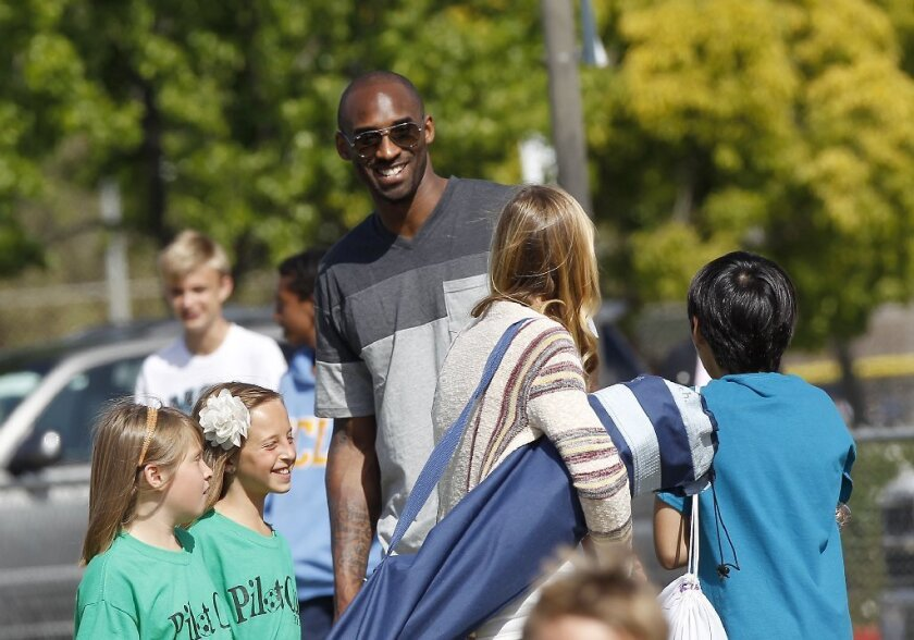 Lakers star Kobe Bryant at Daily Pilot Cup in 2013.
