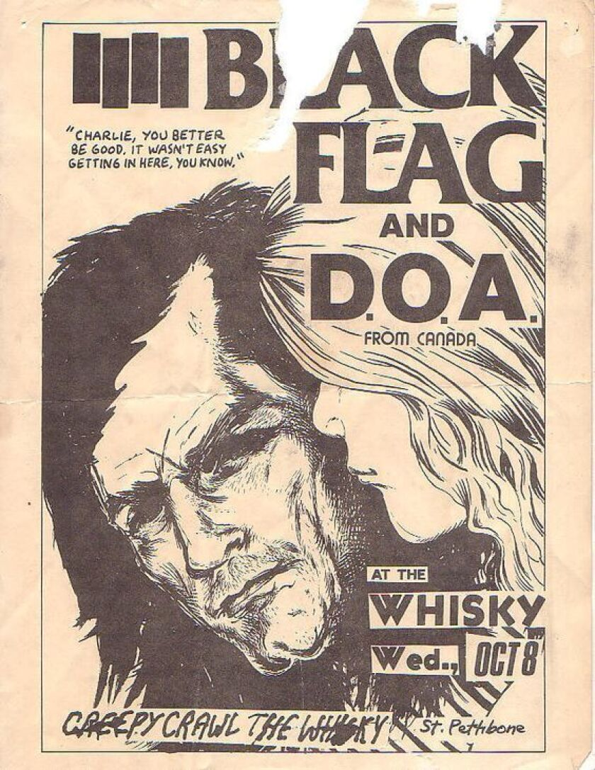 Black Flag flyer by Raymond Pettibon