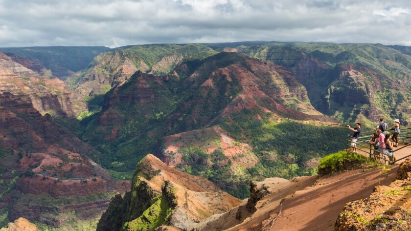 "Waimea Canyon State Park, on the island of Kauai, is often called the ""Grand Canyon of the Pacific."""