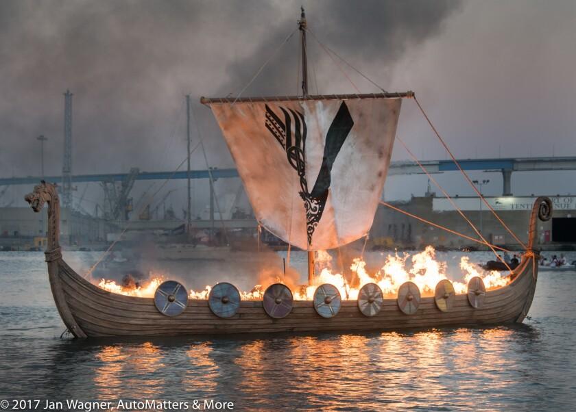 ": Fiery funeral for History Channel's ""Vikings"""