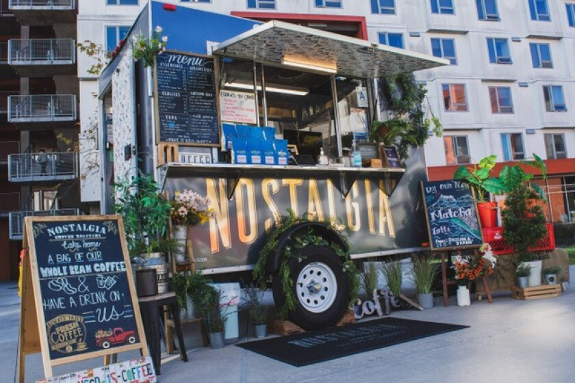The Nostalgia Mobile Cafe aims to give customers a great cup of coffee in an approachable way.
