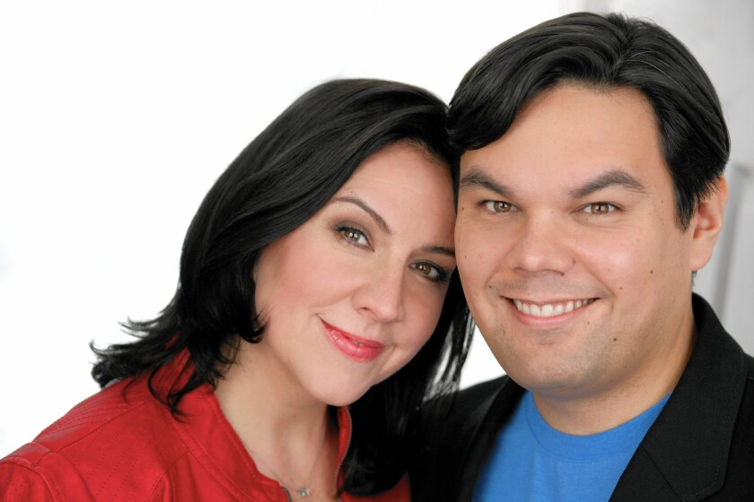 """Frozen"" songwriters Kristen Anderson-Lopez and Robert Lopez are the creators of the musical ""Up Here,"" which is having its world premiere at La Jolla Playhouse."