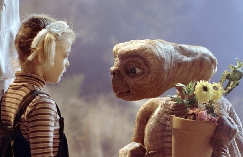 """Rumors of aliens and UFOs held at Area 51 have served as distractions. Above, a scene from """"E.T.: The Extra-Terrestrial."""""""