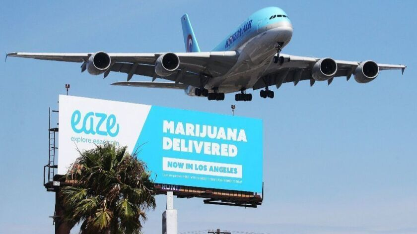 Marijuana Delivery Service Advertised on Billboard in Los Angeles