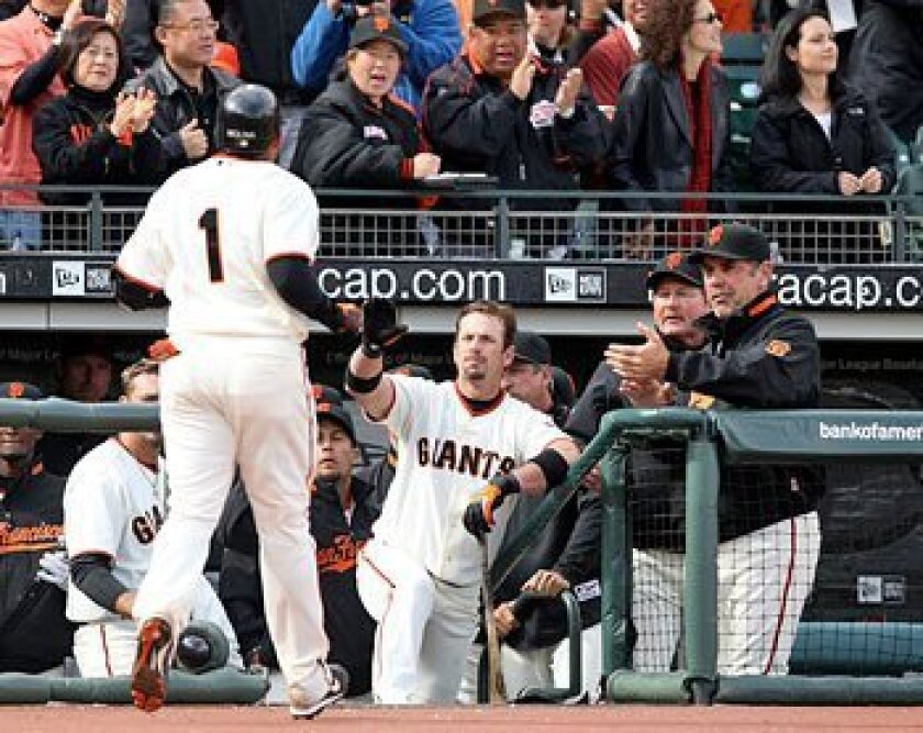 "Giants manager Bruce Bochy (right) says he's received ""tremendous support"" from ownership. (Getty Images)"