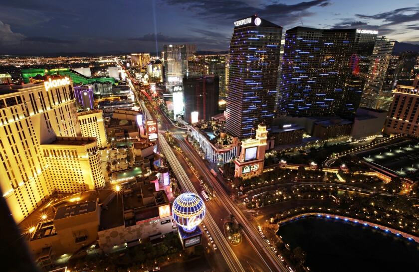 Las Vegas Boulevard en Las Vegas. (AP Photo/John Locher, File)
