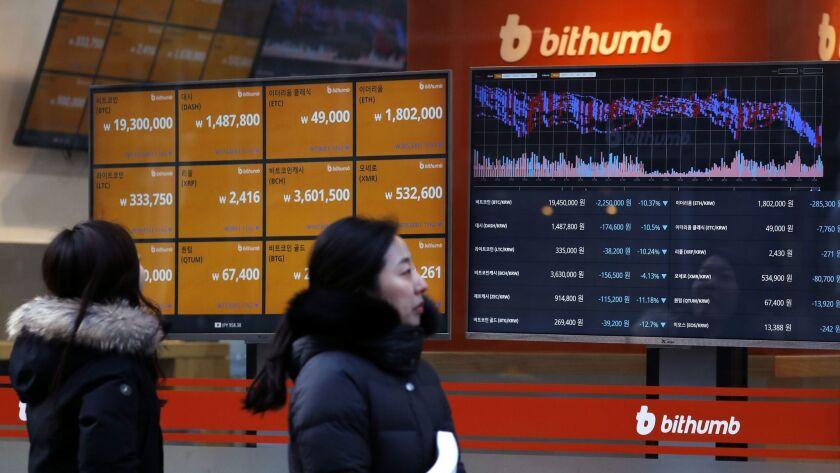 South Korea plans crackdown on cryptocurrencies, Seoul - 11 Jan 2018