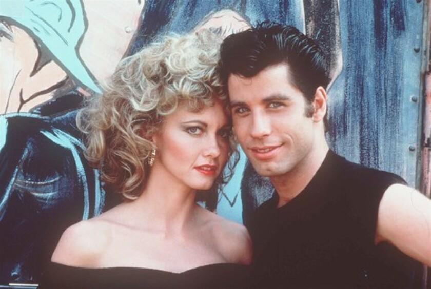 """Olivia Newton-John and John Travolta in the movie """"Grease."""""""