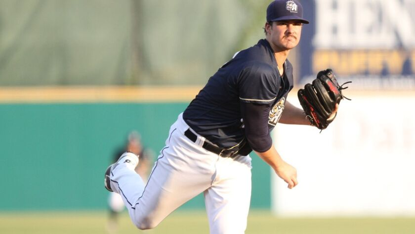 Padres pitching prospect Jacob Nix with Double-A San Antonio.