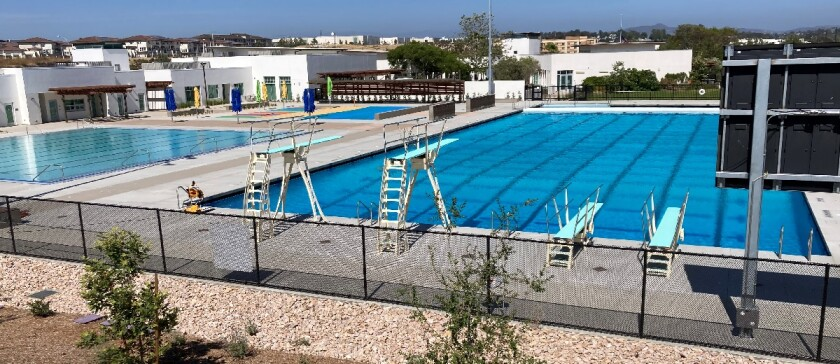 Oceanside's new El Corazon Aquatic Center, seen Thursday, is expected to open in August.