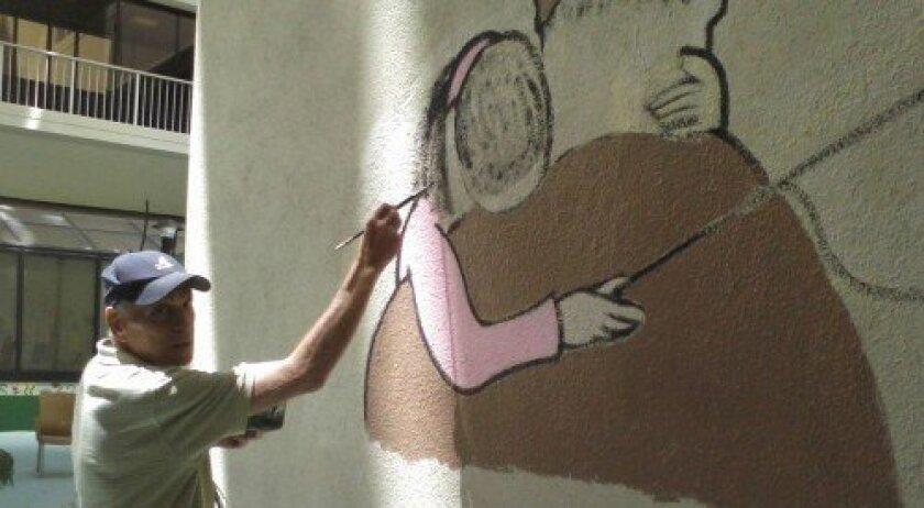Solana Beach resident Joel Harris's 30-foot Sandy Hook scroll. Courtesy photo