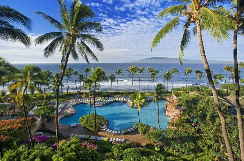 The Hyatt Regency Maui Resort & Spa is in Lahaina, Hawaii.