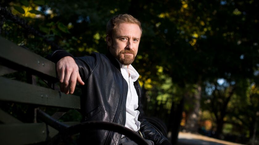 """Ben Foster, who stars in """"Leave No Trace,"""" poses for a portrait in Tompkins Square Park on October 31, 2018 in New York City."""