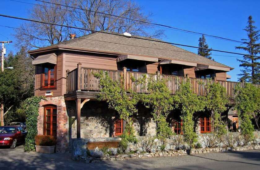 The exterior of the famous French Laundry restaurant.