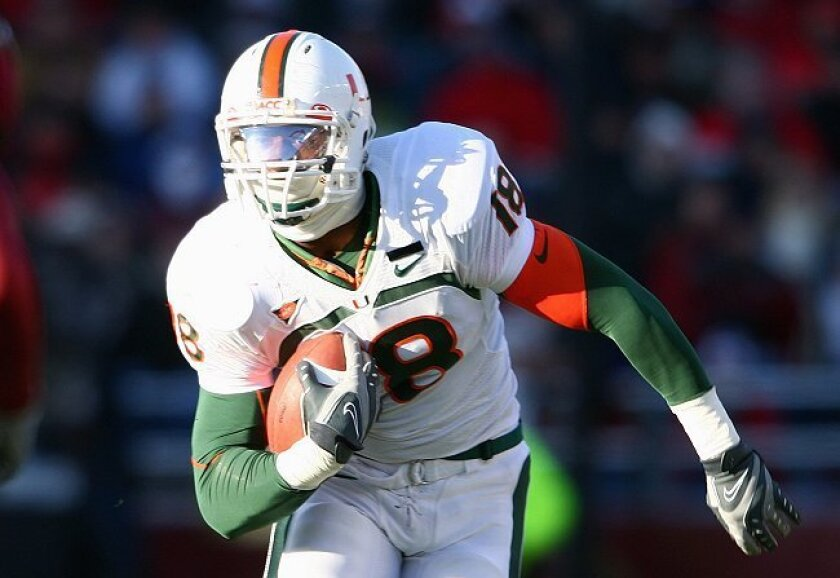 2010: Dedrick Epps   7th Round. The University of Miami tight end has a chance to make the Chargers.