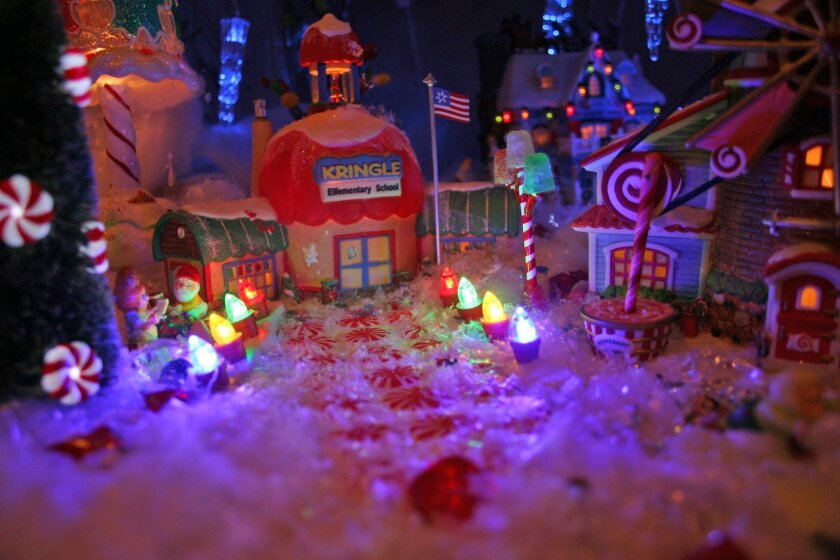 Part of the 'North Pole' area in Dianne McKay's display.