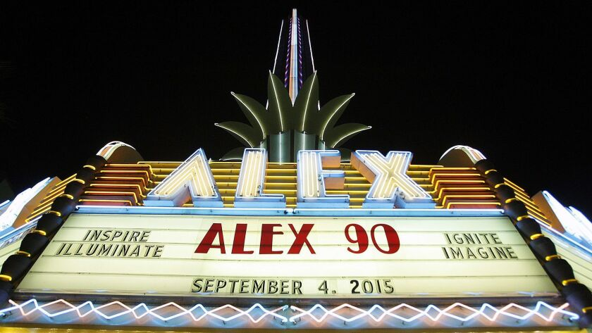 The Alex Theatre will be the setting in July for joint celebrations of the Glendale Historical Society's 40th anniversary and the Alex Film Society's 25th anniversary.