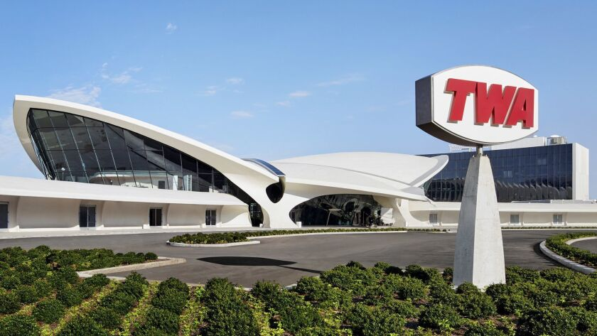 Up up and away! The new TWA Hotel New York's John F. Kennedy International Airport.