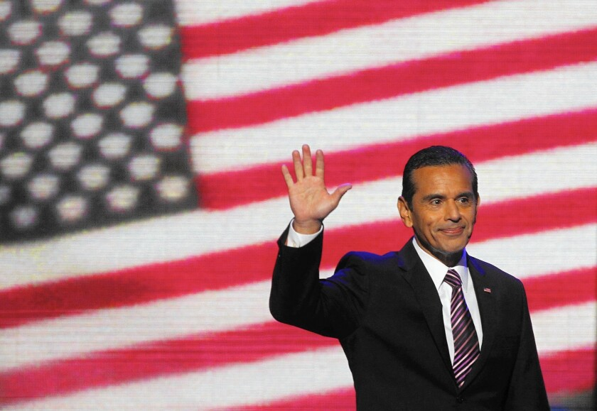 Then-Los Angeles Mayor at the 2012 Democratic National Convention in Charlotte, N.C.