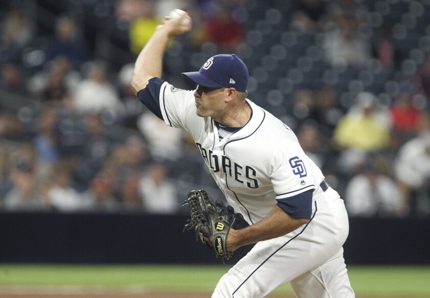 Padres reliever Craig Stammen was highly effective for large portions of the 2019 season, surrendering more than half his runs in just six of his 76 appearances.