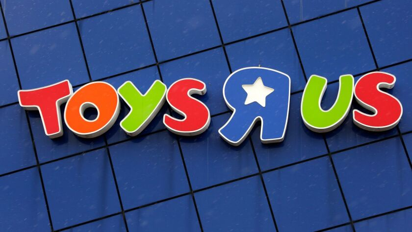 This is the Toys R Us logo on a store in Pittsburgh, Wednesday, Jan. 24, 2018. This store is one of
