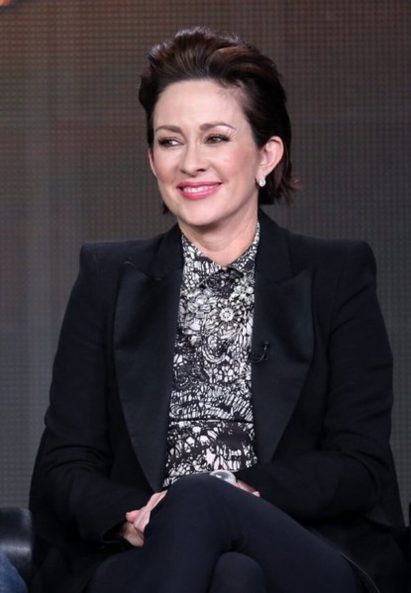 """Actress Patricia Heaton of """"The Middle"""" speaks at the Winter 2013 Television Critics Assn."""