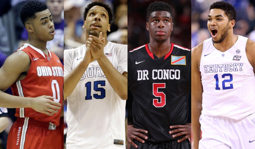 D'Angelo Russell, Jahlil Okafor, Emmanuel Mudiay, Karl-Anthony Towns