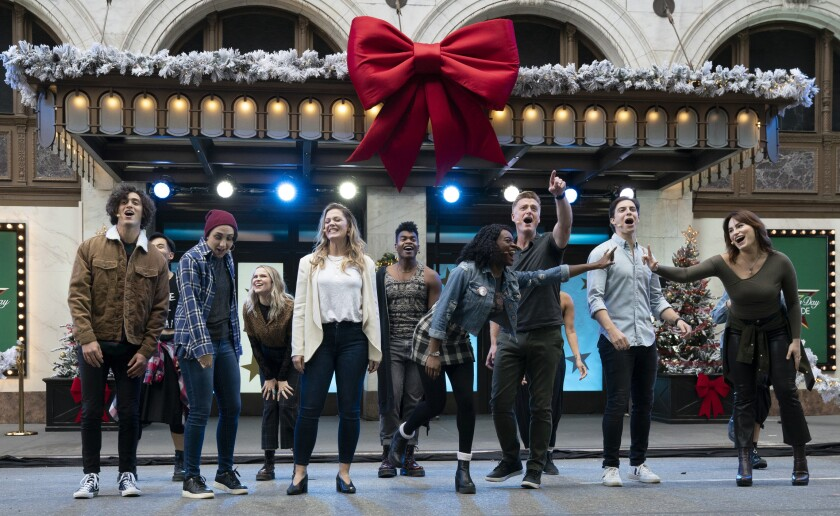 """The cast of the Broadway musical """"Jagged Little Pill"""" performs as part of the Macy's Thanksgiving Day Parade."""